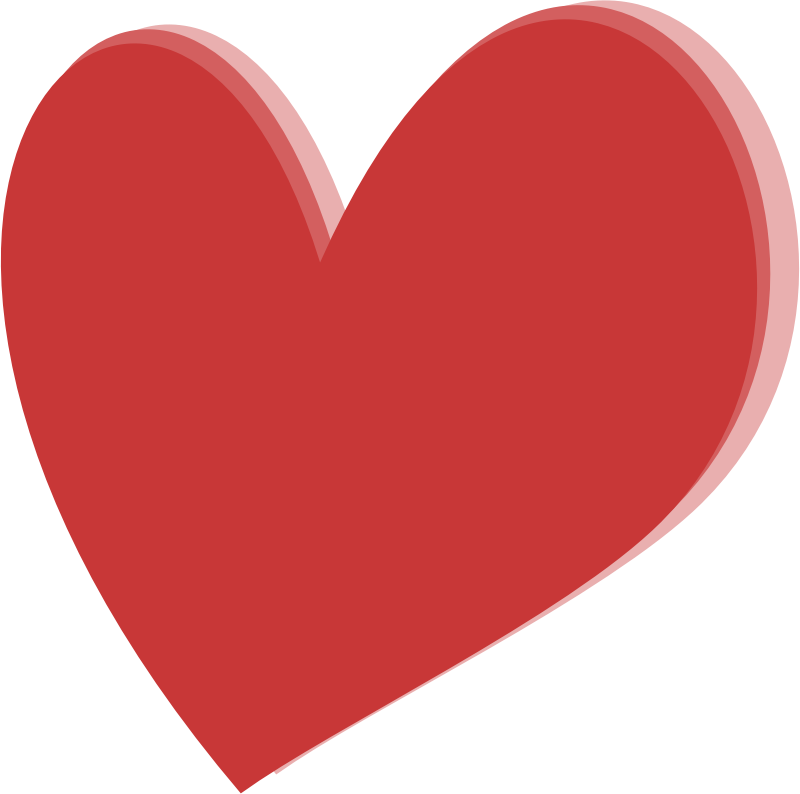 Read heart clipart image royalty free library Clipart - Layered Heart image royalty free library