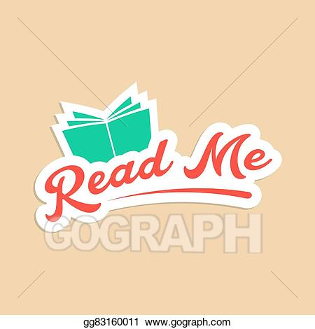 Read me clipart download Vector Clipart - Read me with green book sticker. Vector ... download