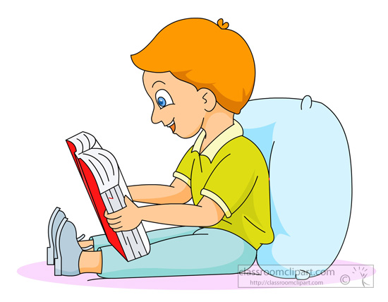Reading a book in bed clipart svg download Read a book clipart - ClipartFest svg download
