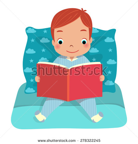 Reading a book in bed clipart jpg library stock Reading Bed Stock Photos, Royalty-Free Images & Vectors - Shutterstock jpg library stock