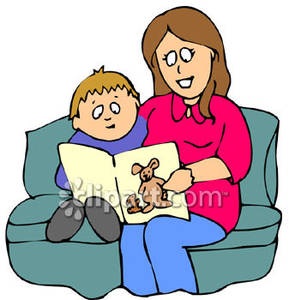 Reading a book in bed clipart png library download Mom Reading Clipart - Clipart Kid png library download