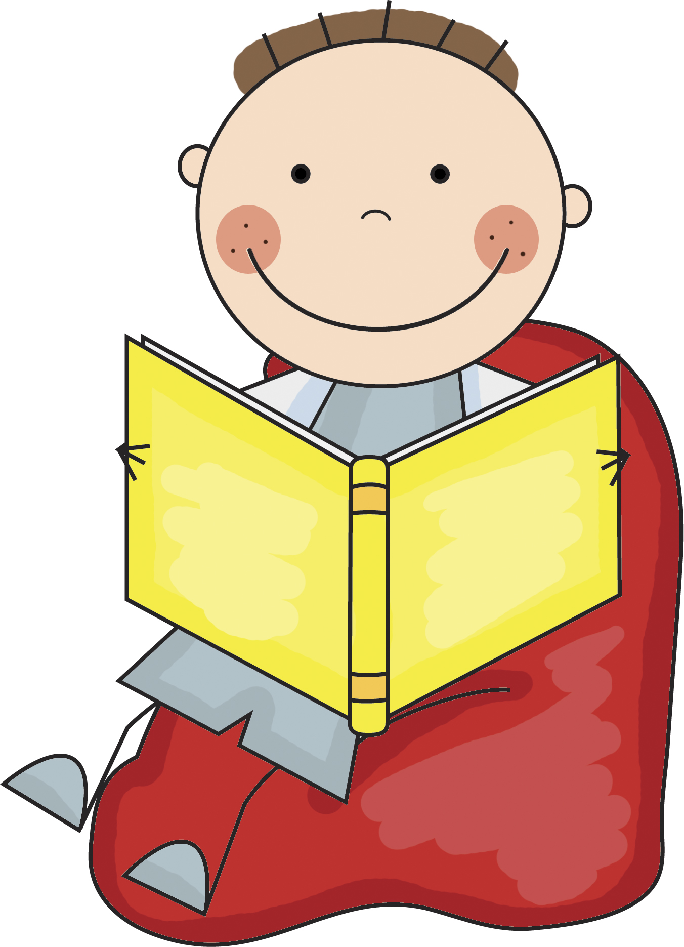 Reading a book in bed clipart png download Boy Reading In Bed Clipart - Clipart Kid png download