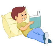Reading a book on the bed clipart picture transparent Girl Pillow Cliparts - Cliparts Zone picture transparent