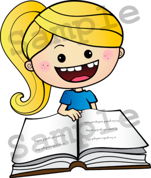 Reading and writing clipart svg transparent READING & WRITING Clipart bundle. B/W and Color images. {Lilly Silly Billy} svg transparent