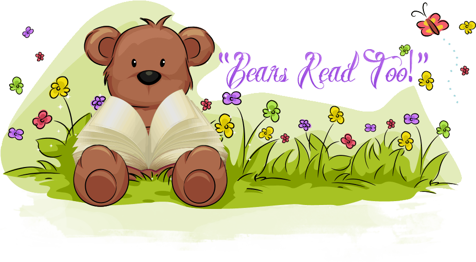 Reading book outside clipart picture transparent stock Bears Read Too!