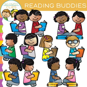 Reading buddy clipart free library Buddies Reading Clip Art free library