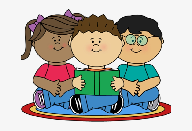 Image Of School Children Reading Clipart - Reading Class ... graphic library library