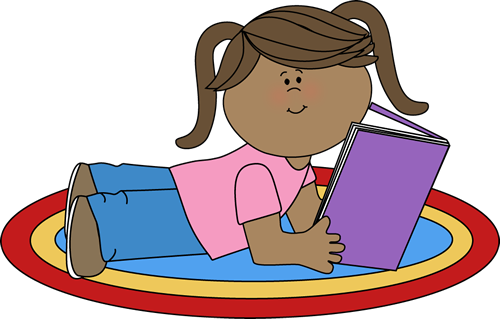 Reading girl clipart vector transparent download read clip art | Girl Reading Clip Art Image - girl stretched ... vector transparent download