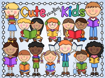 Reading cute clipart clip free download Cute Kids Reading Clipart clip free download