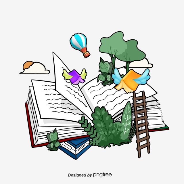 Reading day clipart clipart library library Elements Of Hand Painted Book World Reading Day, World ... clipart library library