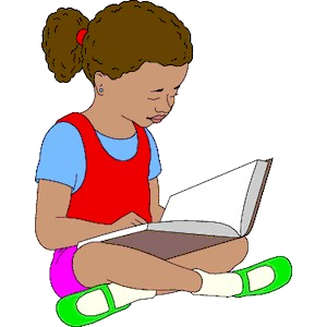 Reading girl clipart clip art black and white Reading Clip Art Images Fair Girl Clipart Transparent Png ... clip art black and white