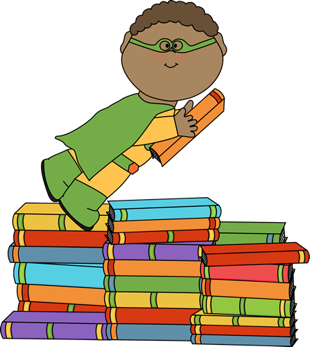 Superhero flying with a book from MyCuteGraphics | Superhero ... download