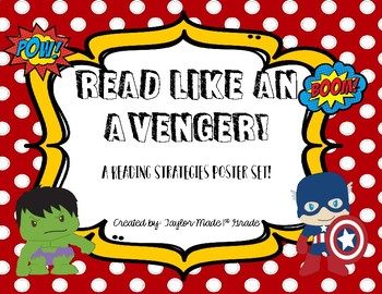 Superhero Reading Strategy Posters vector royalty free download