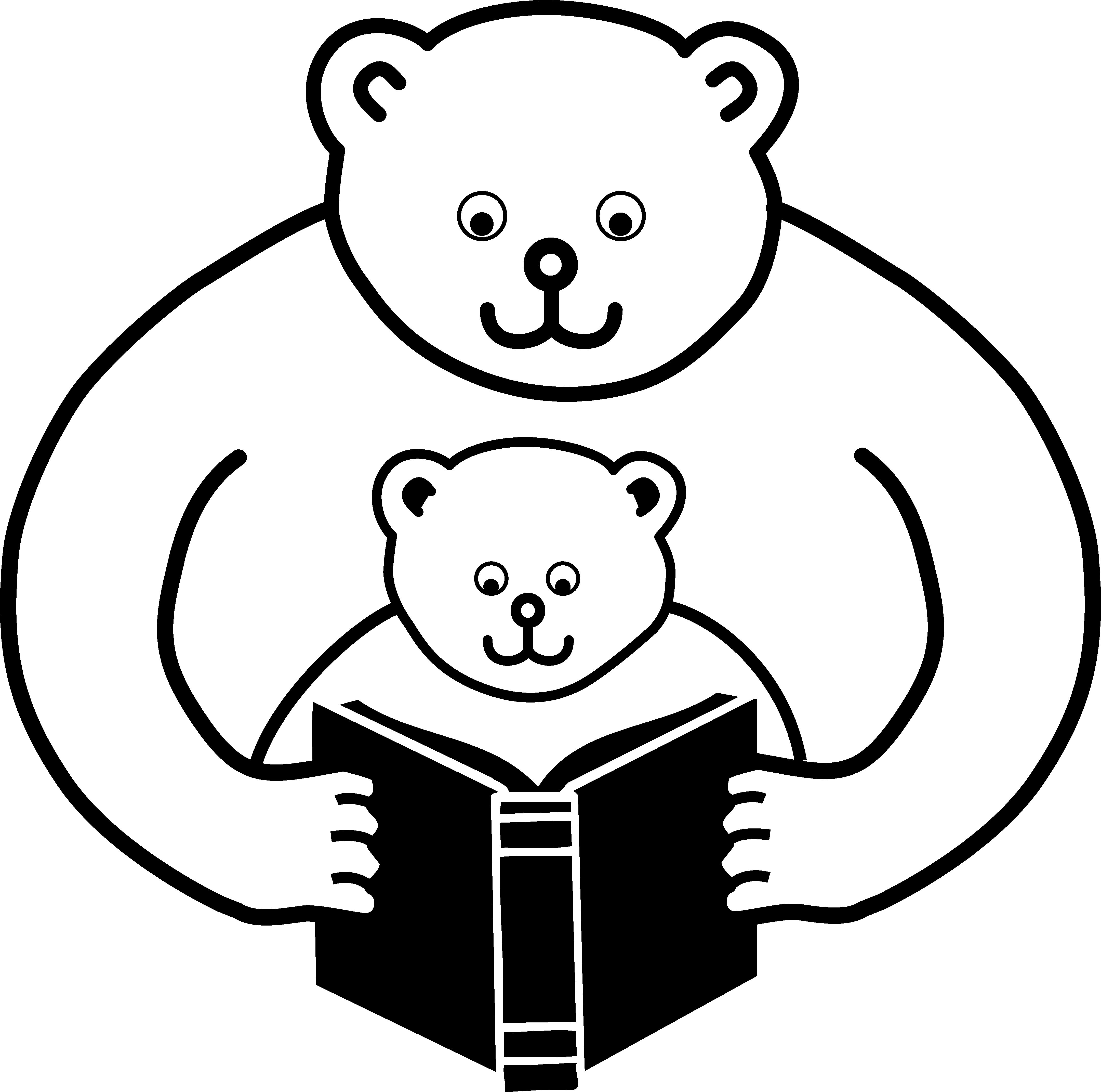 Bear Parent Reading Clip Art free image clip art library library