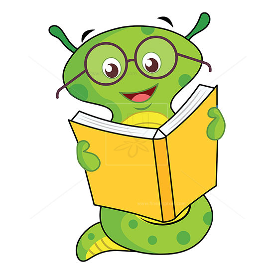 Reading worm clipart clip art transparent Cartoon worm reading book illustration | Free vectors ... clip art transparent