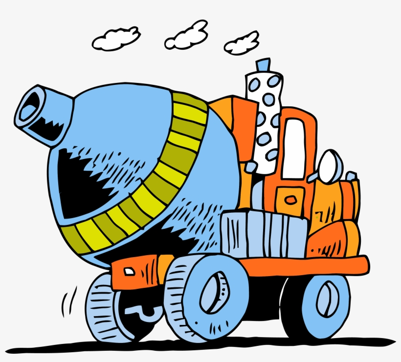 Ready mix clipart svg free Cement Truck Going Clipart Png - Ready-mix Concrete - Free ... svg free