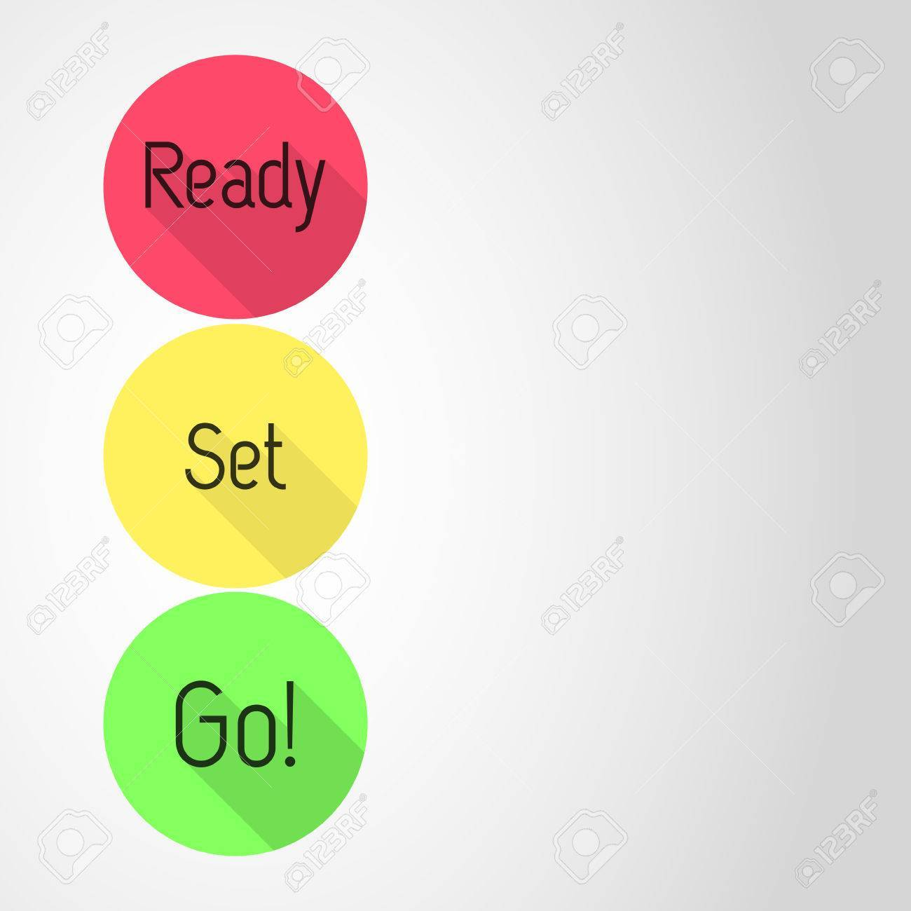 Ready set go clipart png library stock Ready – Set – Go! countdown. Three icons with Ready, Set and ... png library stock