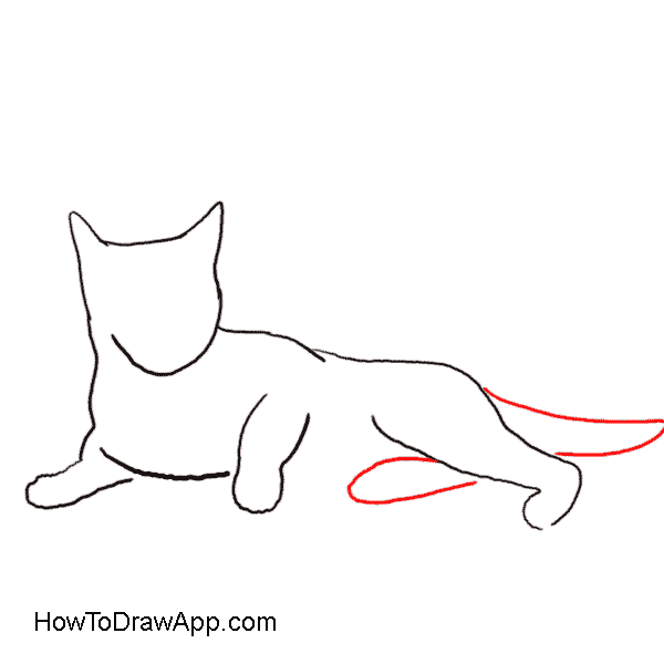 Cat laying on down clipart clip library art line drawings | Sleepy Calico Cat Line Drawing Only clip art ... clip library