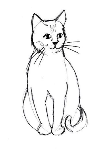 Real cat drawing clipart jpg royalty free Cat Line Drawings - ClipArt Best jpg royalty free
