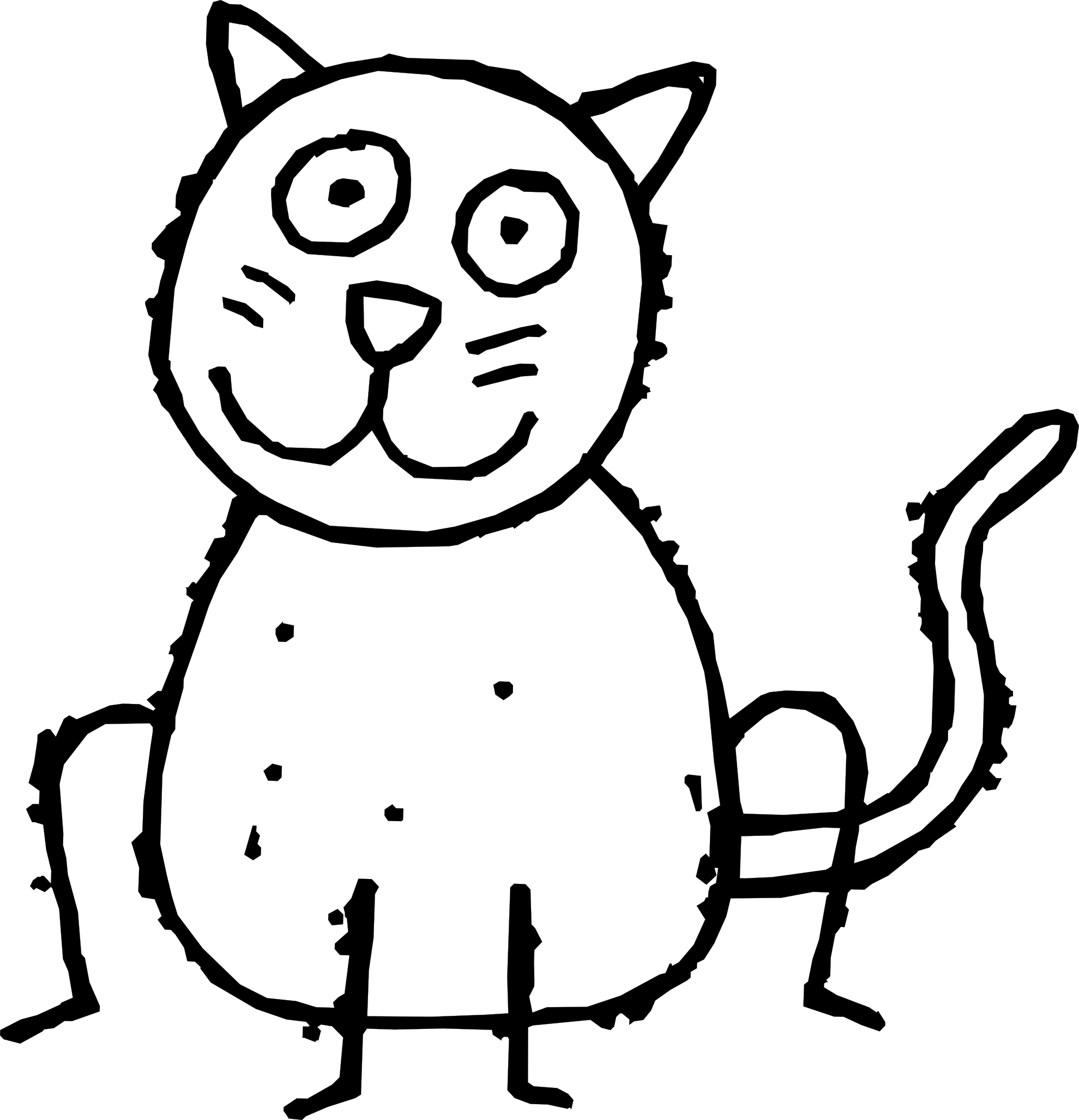 Real cat drawing clipart png black and white stock Cat line drawing clip art - ClipartFest png black and white stock