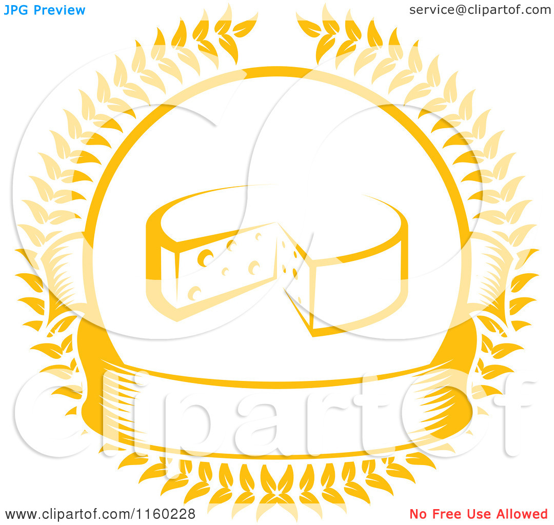 Real cheese logo clipart png freeuse stock Clipart of a Golden Cheese Laurel and Banner Logo - Royalty Free ... png freeuse stock