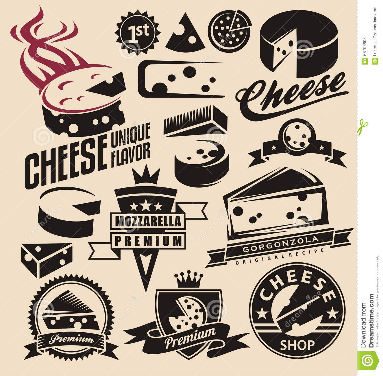 Real cheese logo clipart picture black and white library Cheese Stock Vector - Image: 56793808 picture black and white library