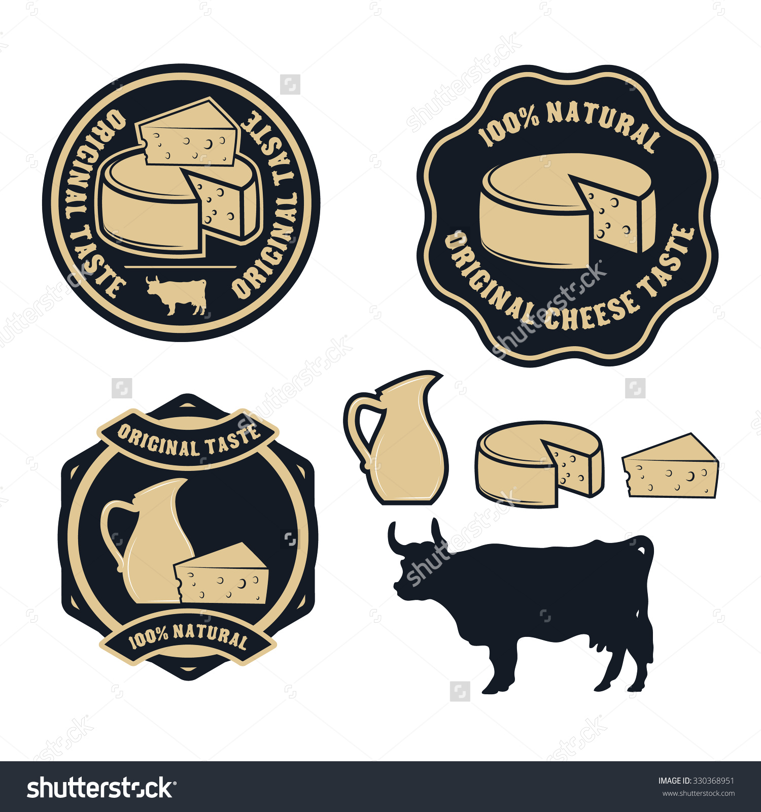Real cheese logo clipart picture library Cheese Logo Label Templates Badges Emblems Stock Vector 330368951 ... picture library