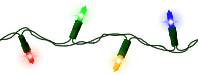 Real christmas lights clipart