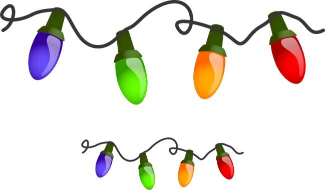 Real christmas lights clipart transparent stock Free christmas lights clipart - ClipartFest transparent stock