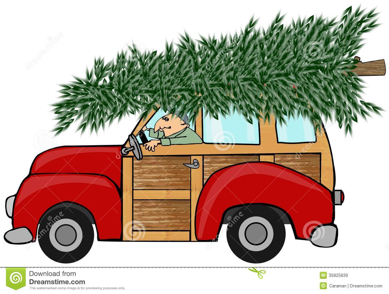 Real christmas tree on top of car clipart clip art freeuse stock Christmas Tree On Top Of Car Clipart clip art freeuse stock
