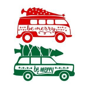 Real christmas tree on top of car clipart banner Christmas Tree on Top Station Wagon SVG Cuttable Design ... banner