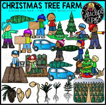 Real christmas tree on top of car clipart png transparent Christmas Tree Farm Clip Art Set {Educlips Clipart} png transparent