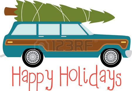 Real christmas tree on top of car clipart clip art library library Station Wagon Clipart   Free download best Station Wagon ... clip art library library