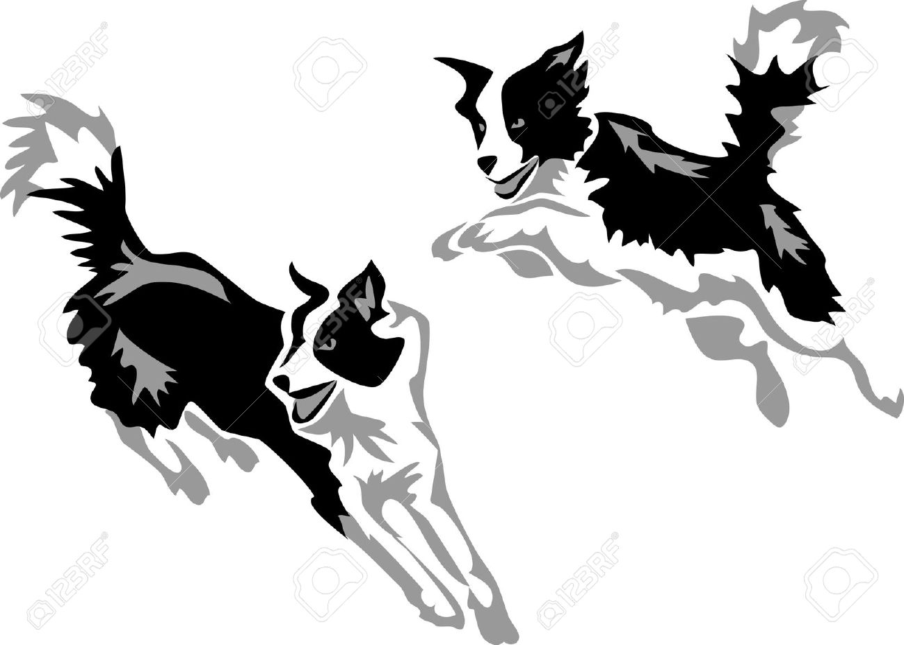 Real dog jumping clipart graphic black and white library Real dog jumping border clipart - ClipartFest graphic black and white library