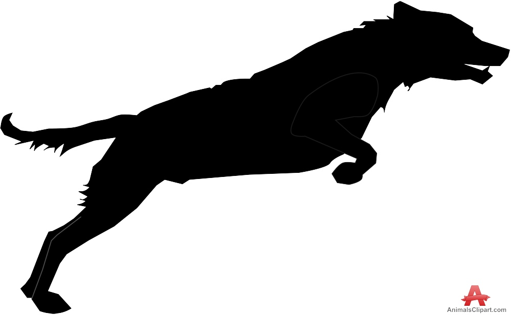 Real dog jumping clipart vector royalty free stock Jumping Dog Silhouette | Free Clipart Design Download vector royalty free stock