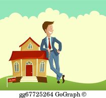 Real estate agents clipart clip freeuse stock Real Estate Agent Clip Art - Royalty Free - GoGraph clip freeuse stock