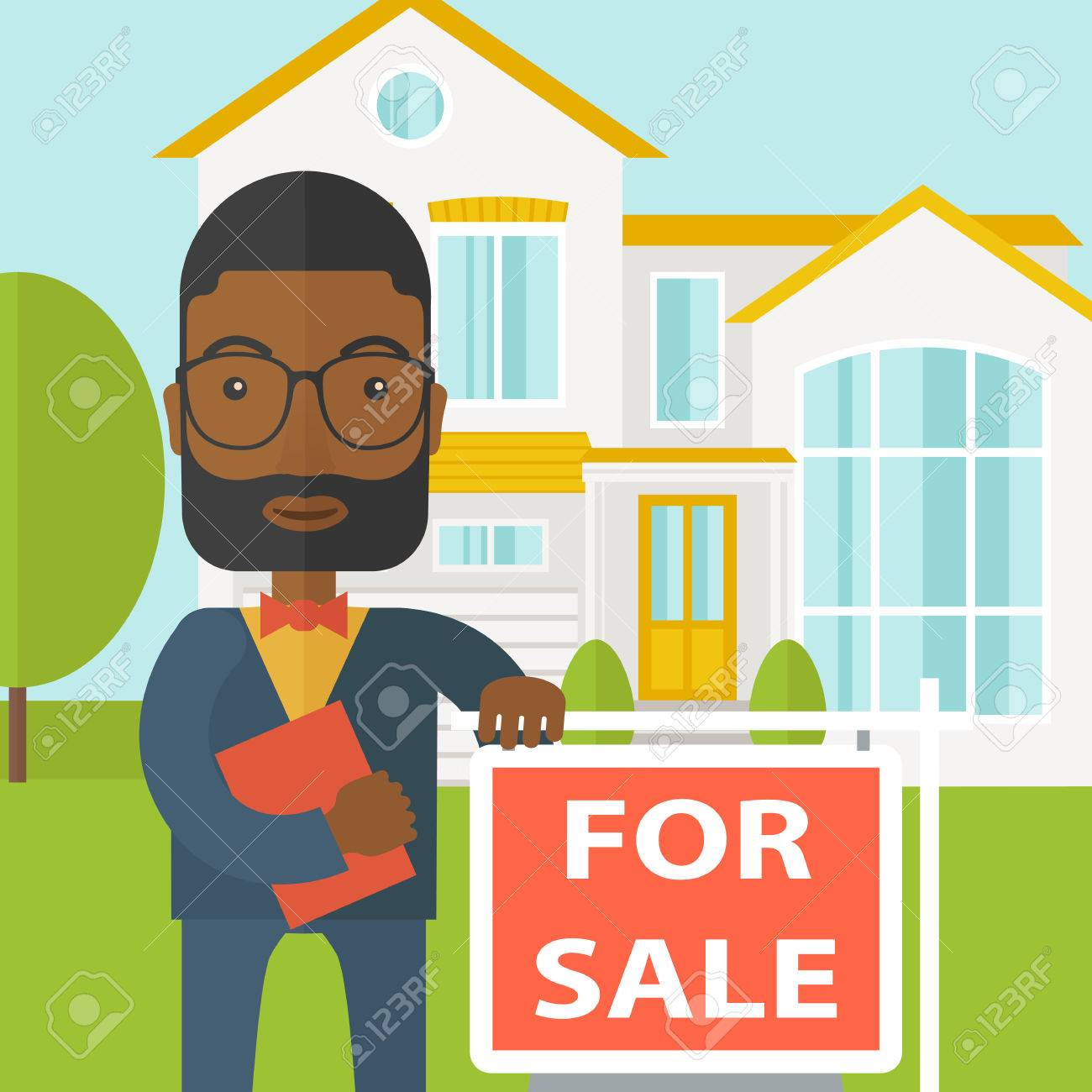 Real estate agents clipart jpg free stock Real estate agent. » Clipart Station jpg free stock