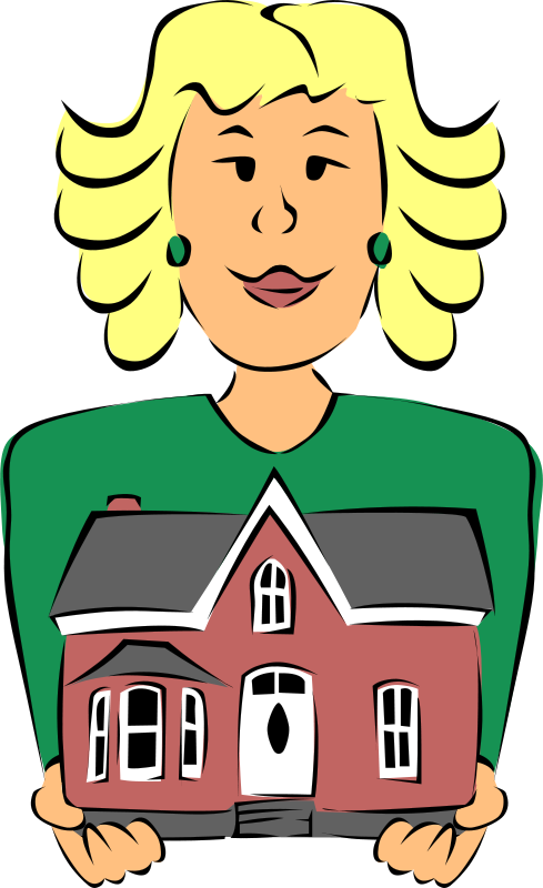 Real estate agents clipart jpg free stock Free Clipart: Real Estate Agent Holding House | Gerald_G jpg free stock
