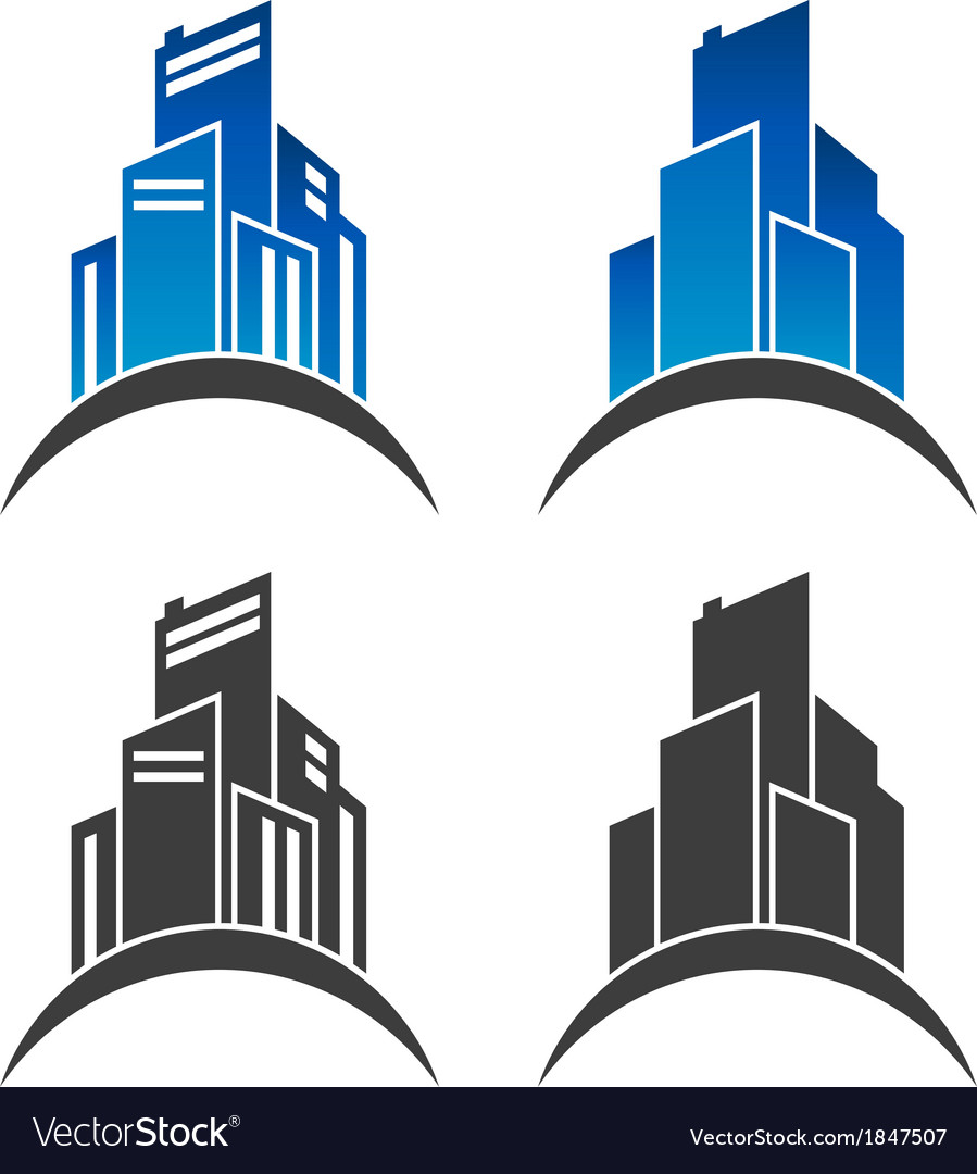Real estate clipart logo royalty free download Real Estate Building Logo Icons royalty free download