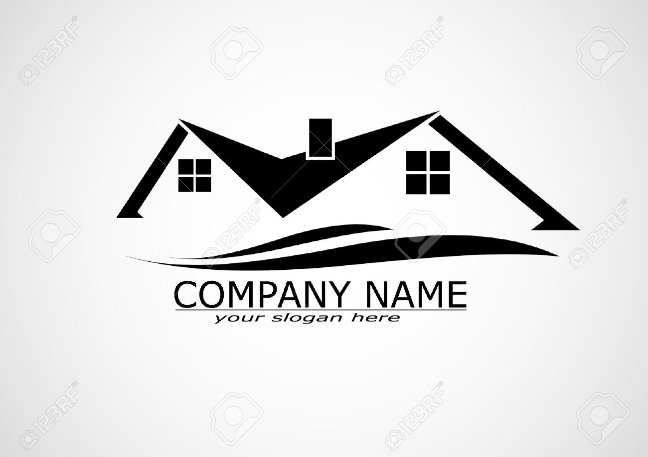 Real estate logo clipart stock House Real Estate Logo Or Icon Design Royalty Free Cliparts ... stock