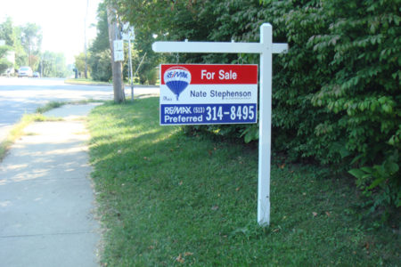 Real estate sign post only clipart banner library download Cincinnati Real Estate Signs, Reality Signs, Name Riders ... banner library download