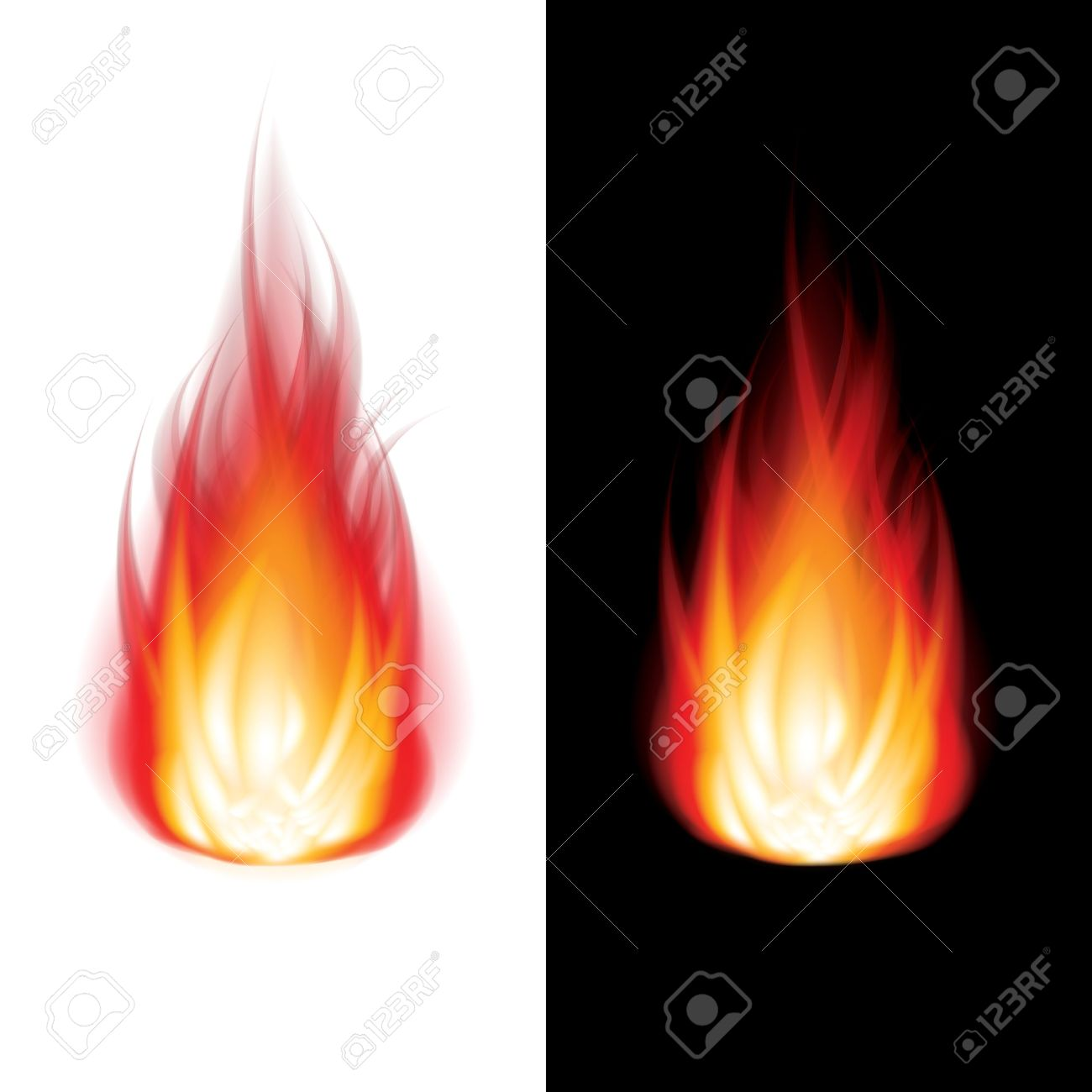 Real fire clipart freeuse library Fire Icon Black And White Background Photo-realistic Vector ... freeuse library