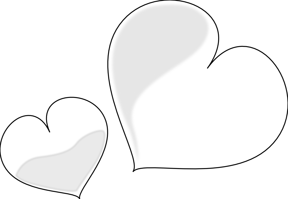 Real heart clipart black and white picture transparent Free Black And White Heart Images, Hanslodge Clip Art collection picture transparent
