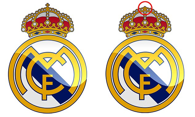 Real madrid logo clipart picture black and white library Real Madrid remove Christian cross from official crest after UAE ... picture black and white library