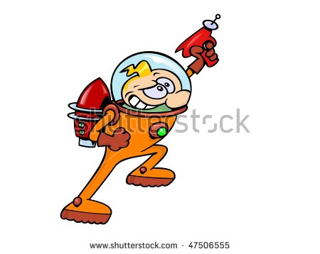 Real space clipart transparent download A Real Space Hero In An Astronaut Suit With Rocket Jet Pack And ... transparent download