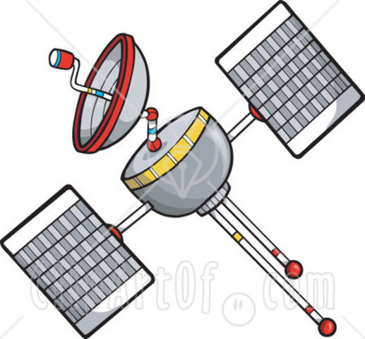 Real time satellite clipart clip black and white download Clipart gps satellite - ClipartFest clip black and white download