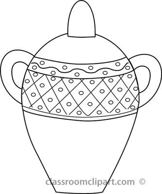 Real white vase clipart transparent Clip Art Black And White Vase Clipart - Clipart Kid transparent