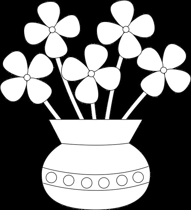 November flower clipart clipart freeuse stock Pattern Flower Vase Clipart - Clipart Kid clipart freeuse stock