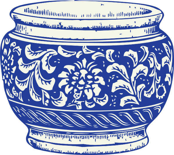 Real white vase clipart vector library stock Blue And White Vase Clip Art at Clker.com - vector clip art online ... vector library stock