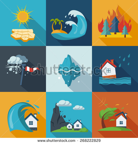 Real world disaster clipart picture black and white Natural Disaster Stock Images, Royalty-Free Images & Vectors ... picture black and white